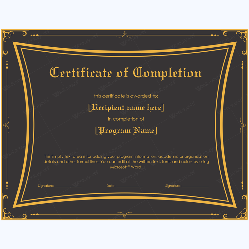 certificate of completion 06