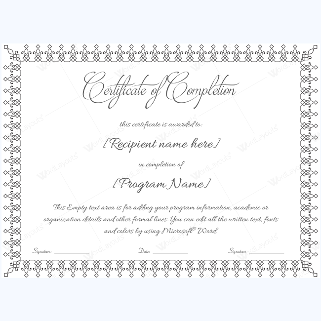 Certificate Of Completion 17