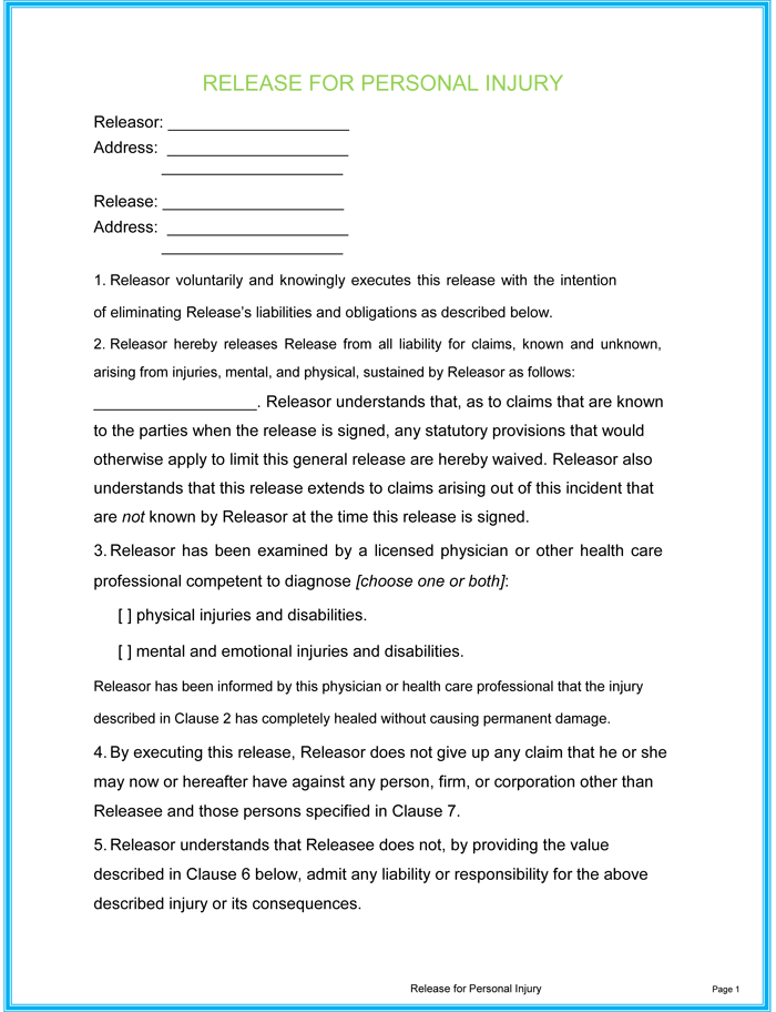 5 Sample Injury Form Templates to Create an Injury Report – Report Form Template