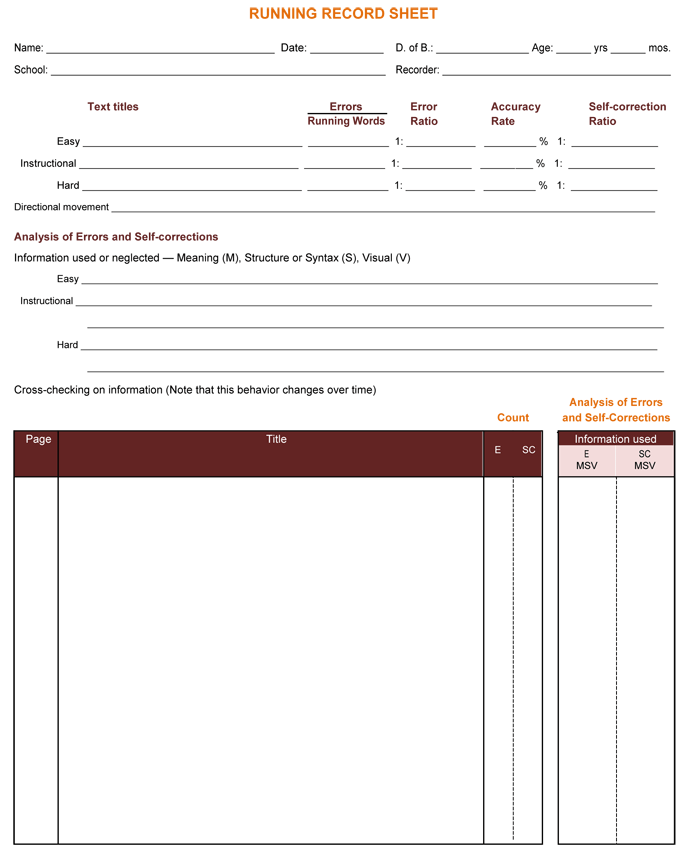 running log template