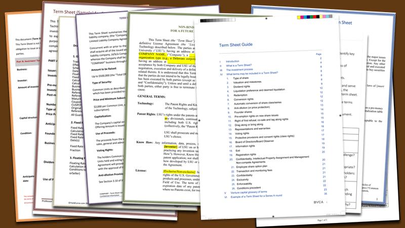 Term Sheet Sample Joint Venture Word Layouts – Term Sheet Template
