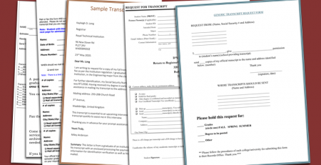 Transcript Request Template