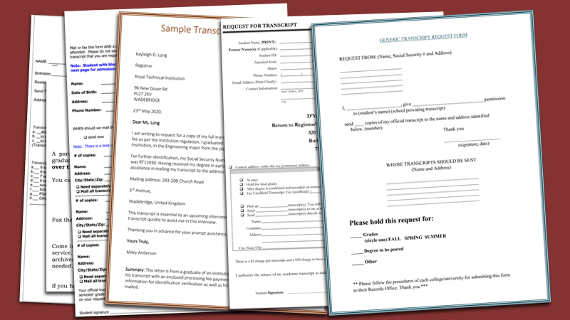 Transcript Request Template