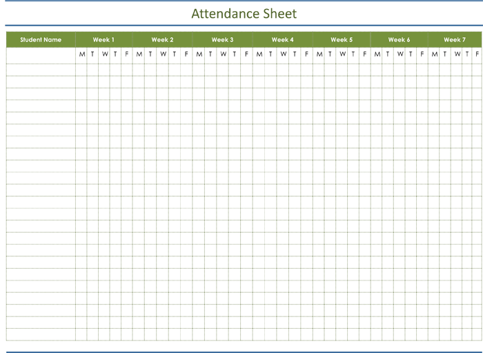 Attendance Tracking Templates - 6 Excel Trackers and Calendars