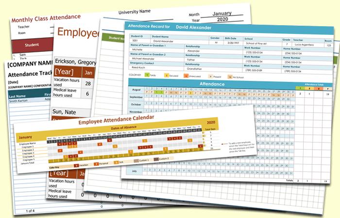 employee attendance tracking template