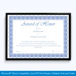 honor-award-certificate