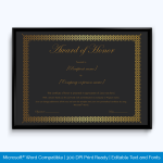 honor-award-certificate-for-best-dressed