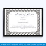honor-award-certificate-for-participation