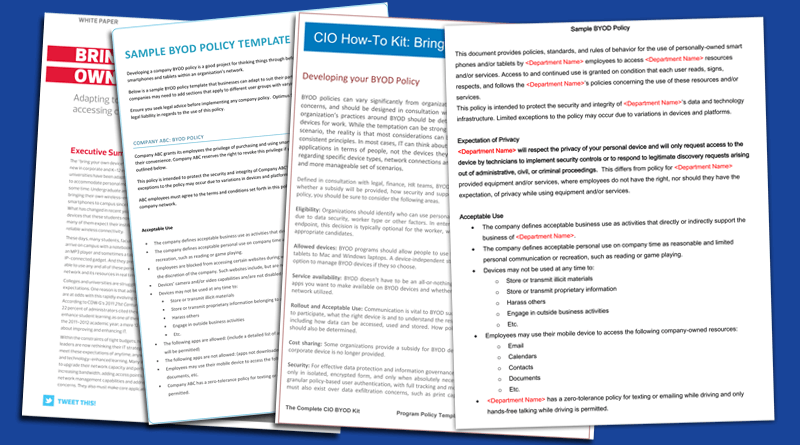 Byod Policy Templates 4 Best Sles And Exles Template Sans