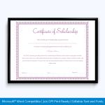 certificate-of-scholarship