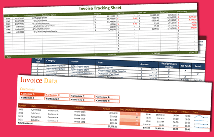 invoice tracking template to track your sales and receivables, Simple invoice
