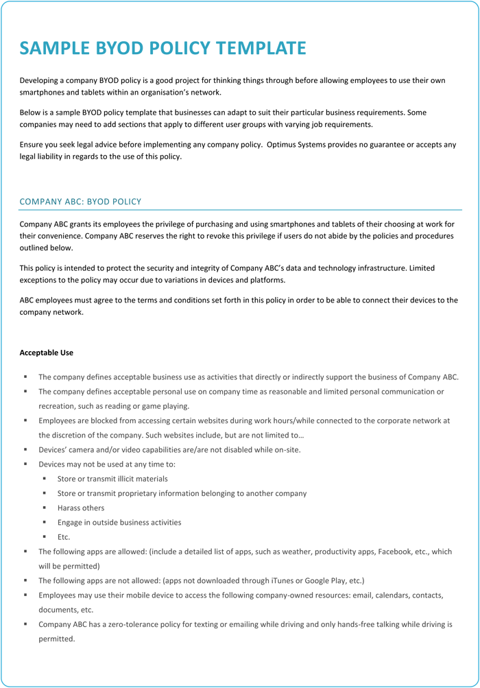 Byod policy templates 4 best samples and examples sample byod policy template maxwellsz