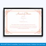 Award-of-honor-in-word