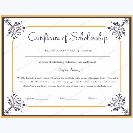 scholarship recipient certificate - Vaydile.euforic.co