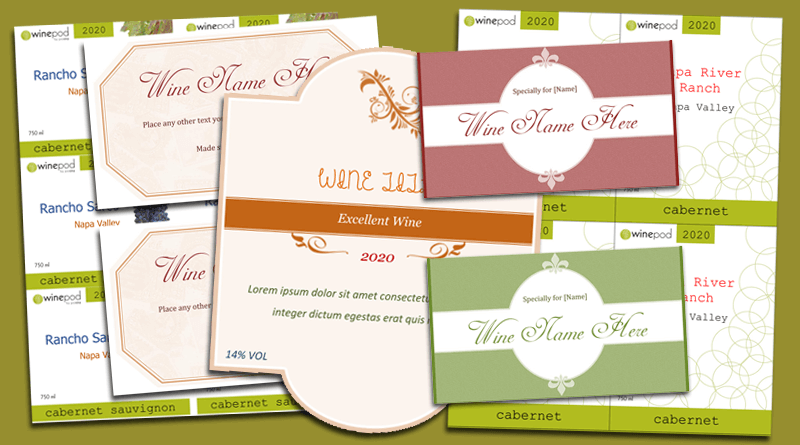 Wine Label Template Make Your Own Wine Labels – Wine Label Template Word