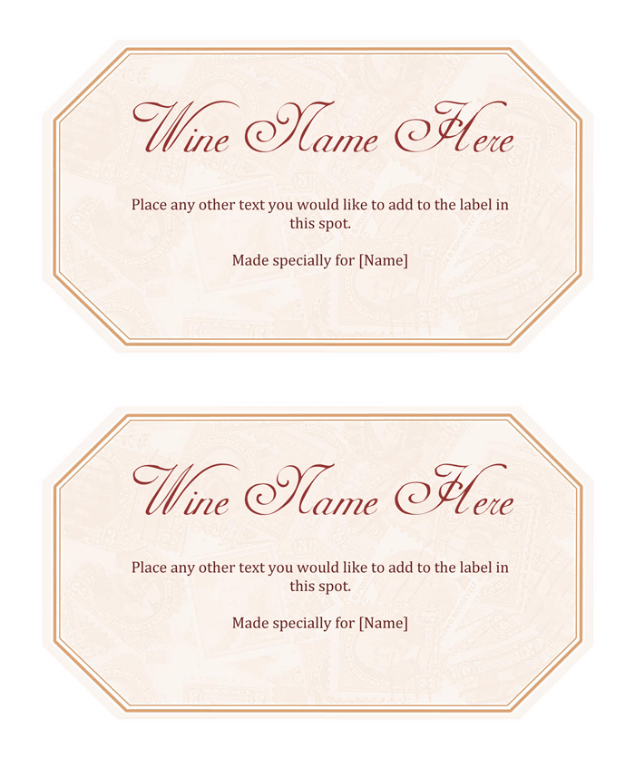 Free Printable Wine Label Template  Free Wine Label Template