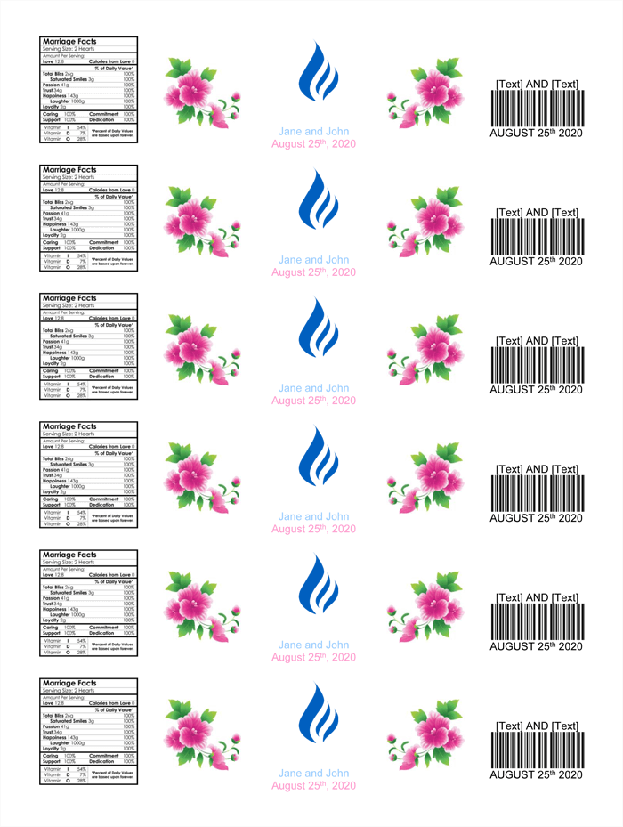 Water Bottle Label Template - Make Personalized Bottle Labels