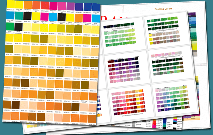 5 Printable Pantone Color Charts For Word And Pdf