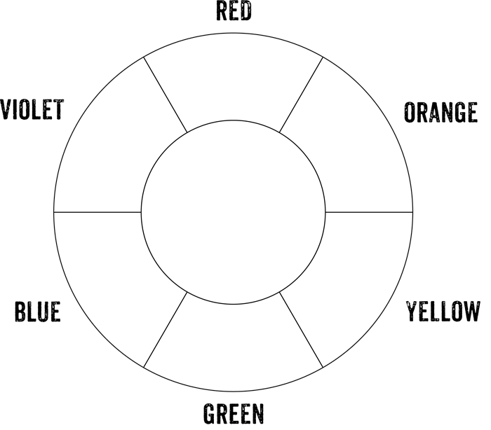 Printable Basic Color Wheel Chart