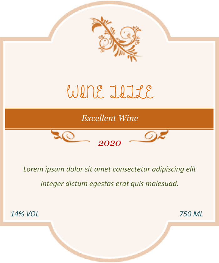 wine label template  Wine Label Template - Make Your Own Wine Labels