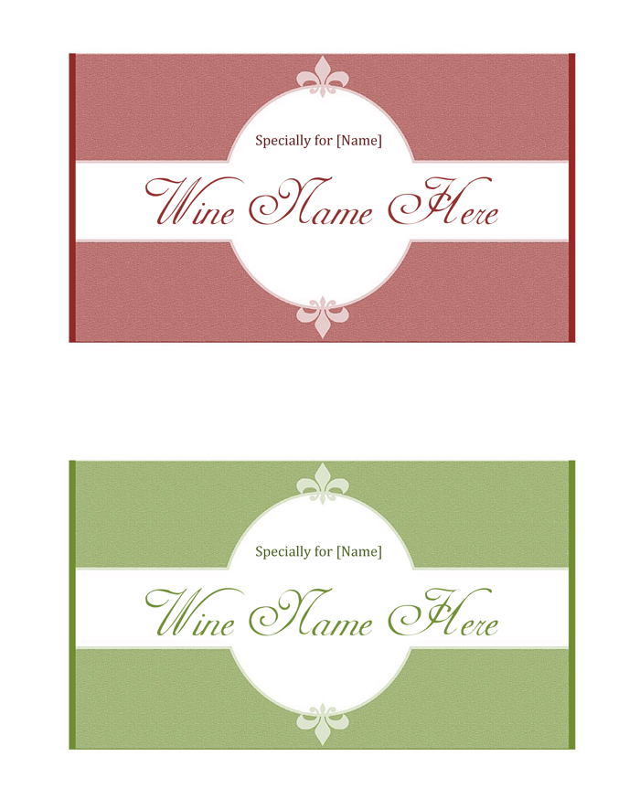 Nice Wine Tag Template Ensign - Resume Ideas - namanasa.com