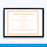 service-of-employee-award-certificate