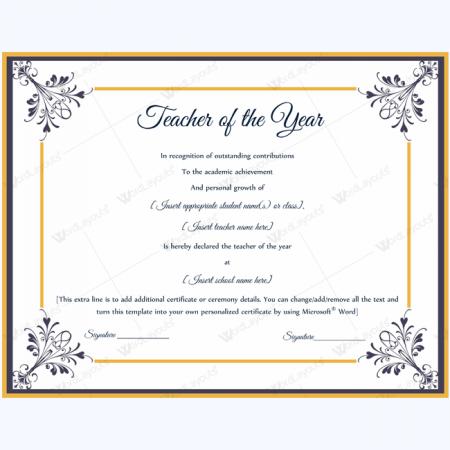 Best Teacher Certificate Templates Free