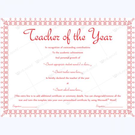 Year Award Template