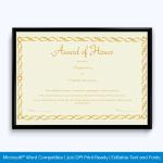 honor-certificate-template