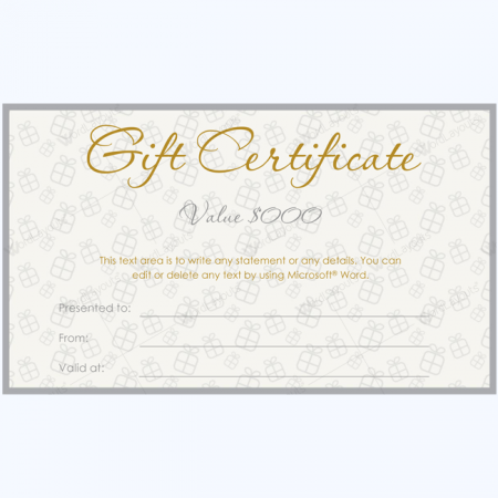 grey gift certificate
