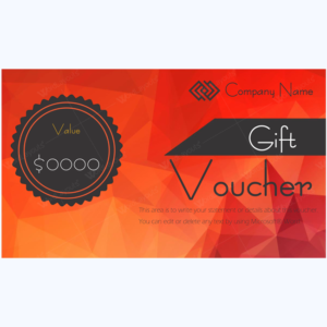 Red gift certificate