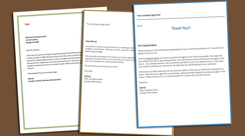 Business Thank You Letter To Customer from www.wordlayouts.com
