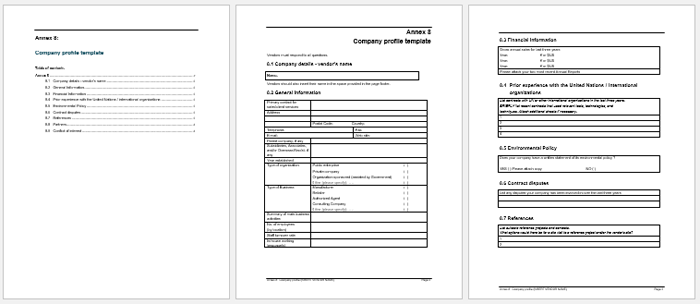Company Profile Sample In Word  Profile Templates