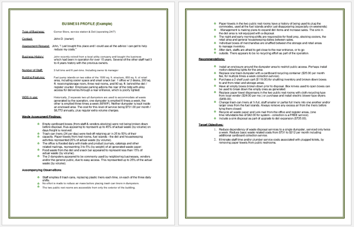 Bon Company Profile Sample Template
