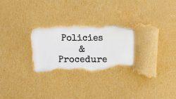 Policies and procedure
