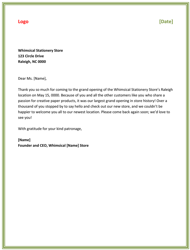 Best Business Thank You Letter Samples to Stay Professional – Professional Thank You Letter