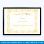 certificate-of-honor