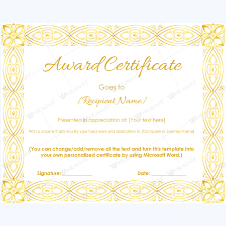 funny award certificate template