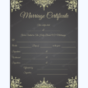marriage certificate printable