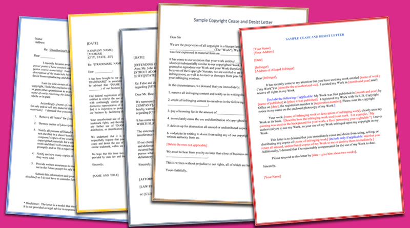 cease and desist defamation letter ontario 2017 letter format – Cease and Desist Sample Letter