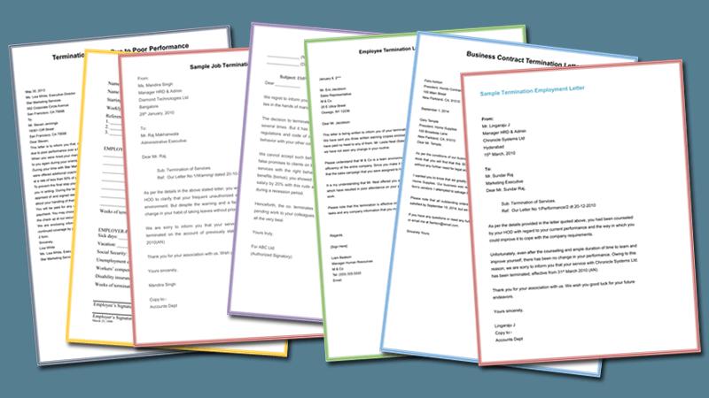 Employment Termination Letters