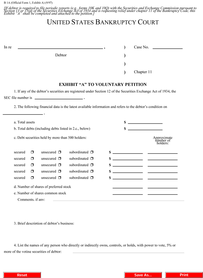 bankruptcy form templates printable bankruptcy forms for pdf