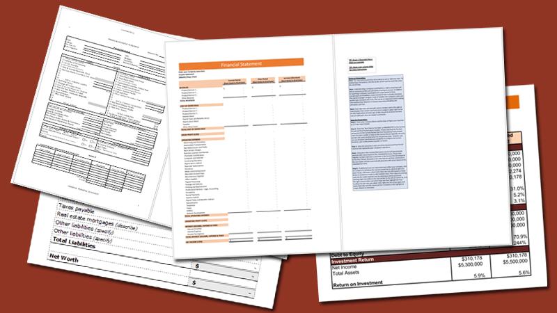 Financial statement template