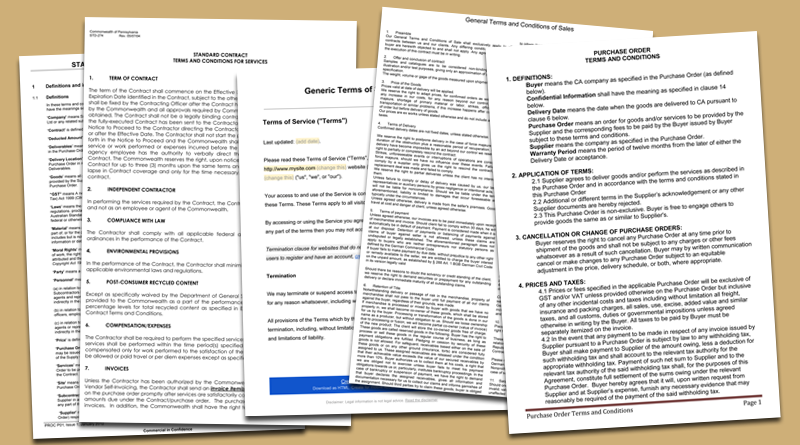 Terms and Conditions Templates to Write Polices for Your Business – Generic Purchase Order