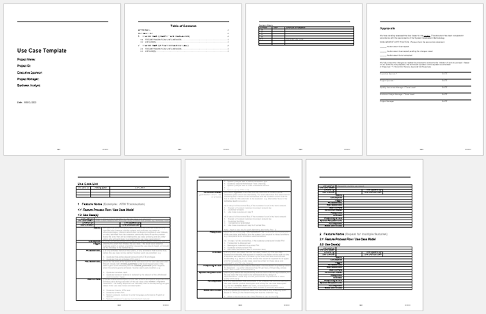 Use Case Template For Word