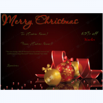 Elegant Christmas Gift Certificate Template
