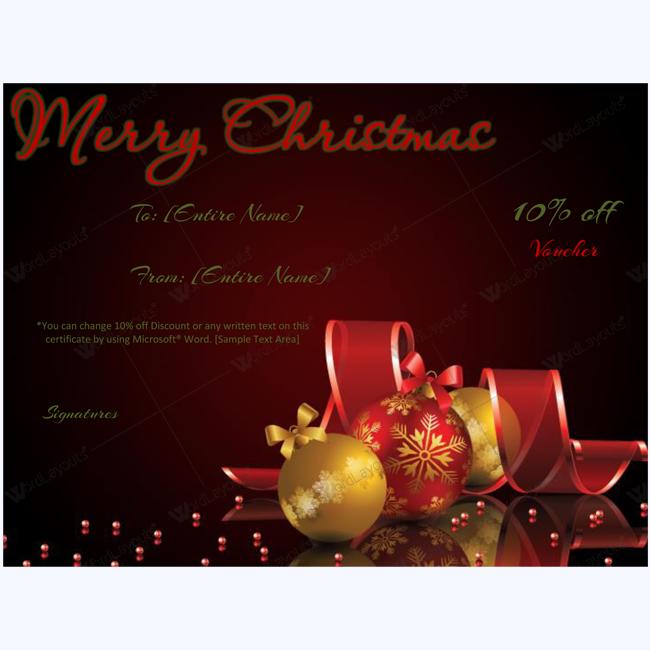 christmas gift card template