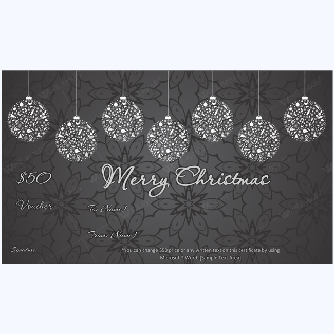 Christmas gift certificate template 03 word layouts christmas gift certificate template 03 yelopaper Choice Image