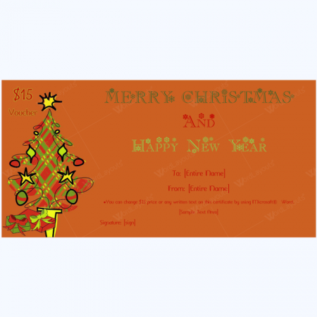 Jingle Bells Christmas Gift Certificate Template