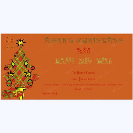 Jingle Bells Christmas Gift Certificate Template